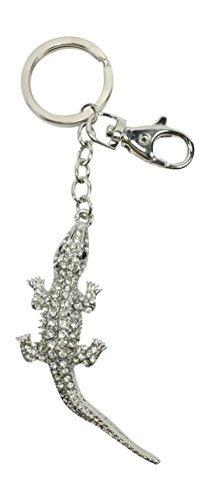 bejeweled cocodrilo llavero / monedero de la joyería de...