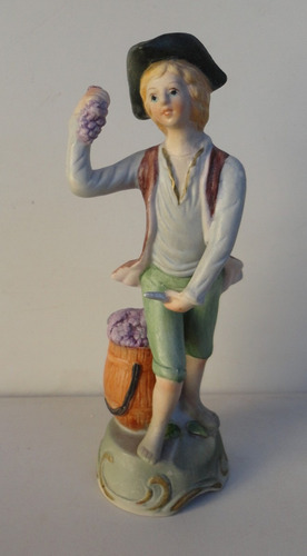 bela e antiga estatueta alemã em biscuit - década de 1910/20