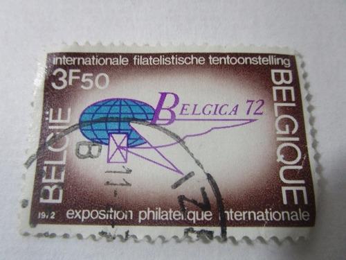 belgica 72 filatelia mundial 1972  antigua estampilla l32