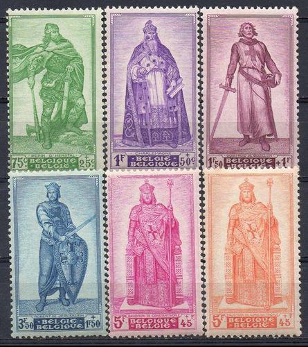 bélgica - selos de caridade - 1946 - s/completa