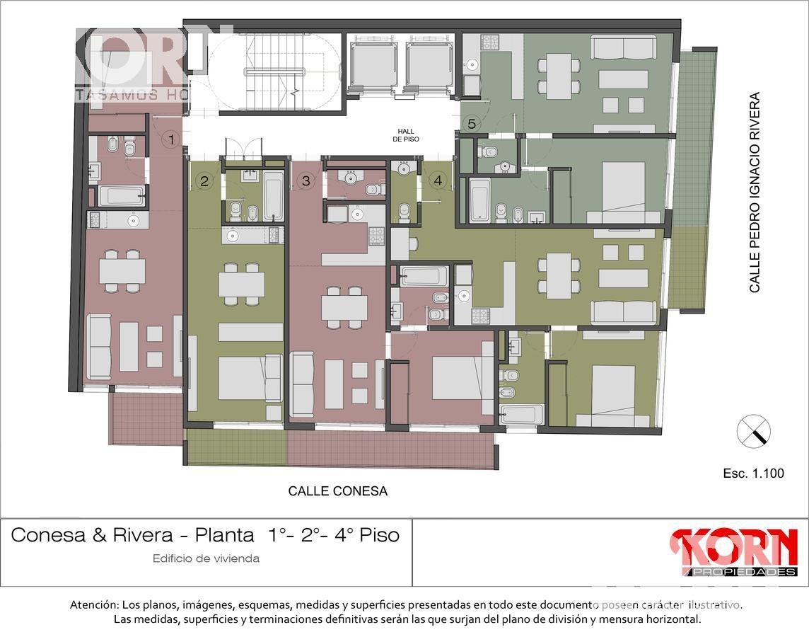 belgrano - departamento en venta de 1 ambiente apto profesional - a estrenar