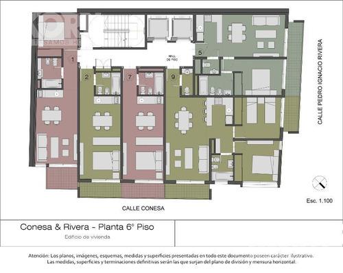 belgrano - departamento en venta de 1 ambiente - en construccion