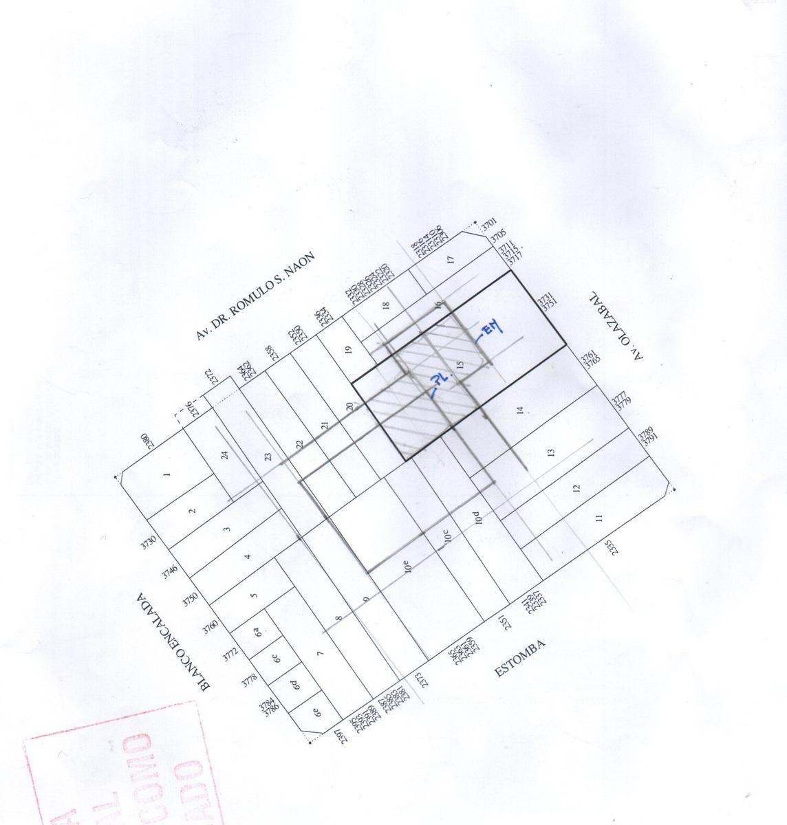 belgrano r , lote unico , 1147 m2 ppios a contrsuir