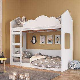 Beliche Infantil Casinha Com Escada E Proteção De Quedas