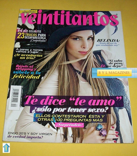 belinda revista veintitantos 2011 burlesque christina aguile