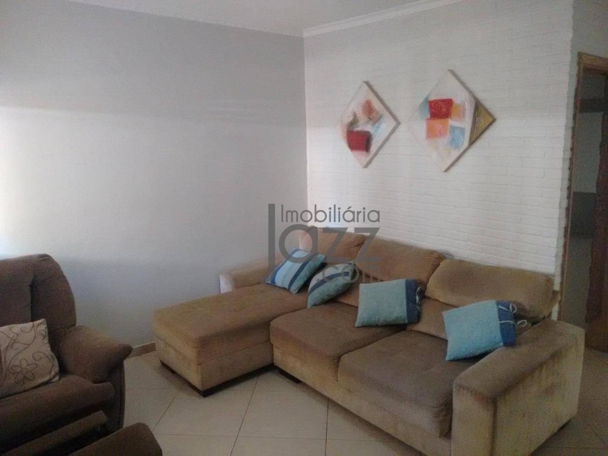 belíssima casa com 3 dormitórios à venda, 198 m² por r$ 690.000 - jardim paraíso - campinas/sp - ca5388
