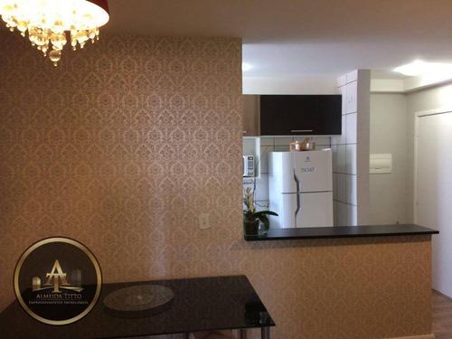 belíssimo apartamento no condomínio jade em jandira - confira! - ap0752