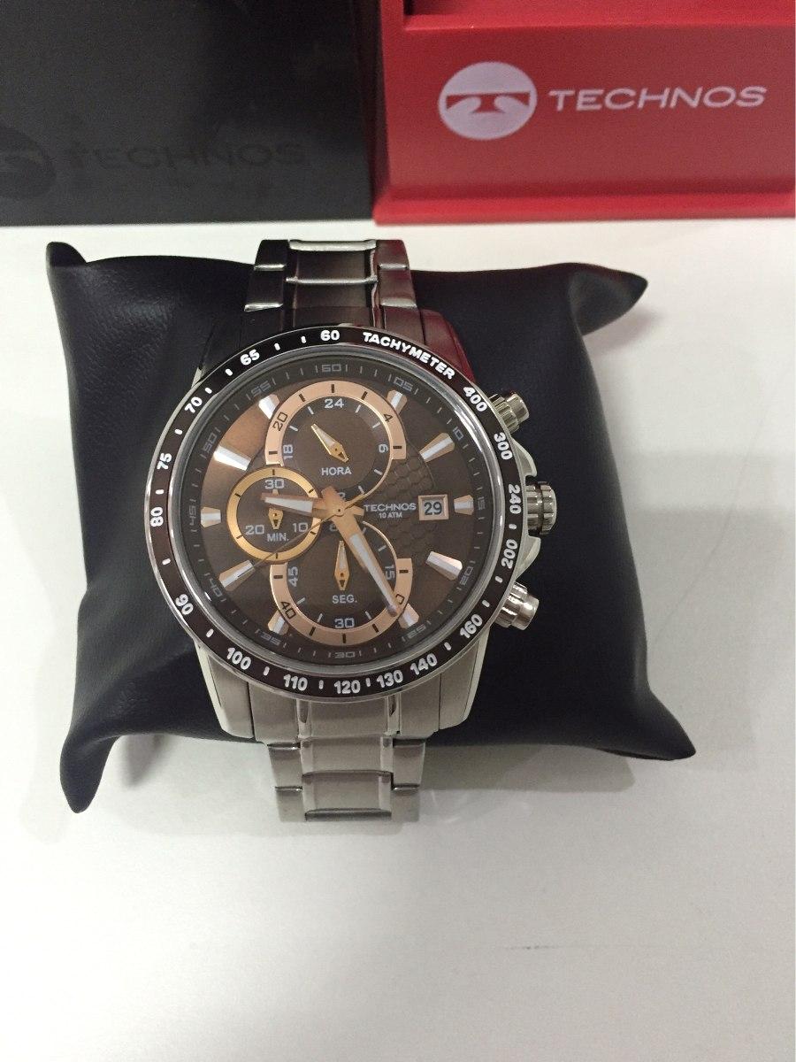 58cfafb20cb belíssimo exclusivo relógio technos sports js15ab 1m marron. Carregando  zoom.