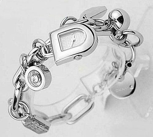 belíssimo relógio pulseira de luxo dkny donna karan original