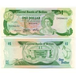 belize 1 dollar 1983 p. 43 fe cédula rainha - tchequito