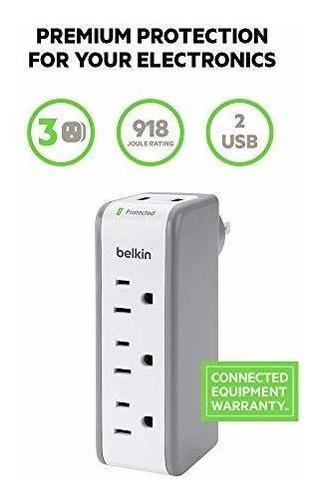 belkin bz103050-tvl mini protector contra sobretensiones con