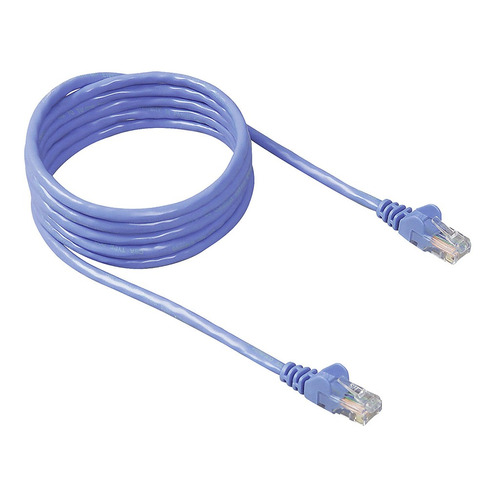 belkin cable de red rj45 cat5e utp, patch cord (azul)