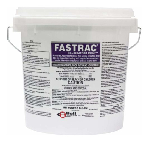 bell labs fasttrac blox, fastrac rodenticide 4lb balde