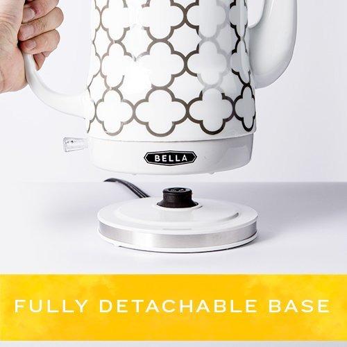 bella 1.2l eléctricos de té de cerámica hervidor de agua