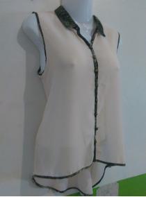 67573e48865f Bella Blusa De Dama Fashion Moda De Tela Chifon Talla M