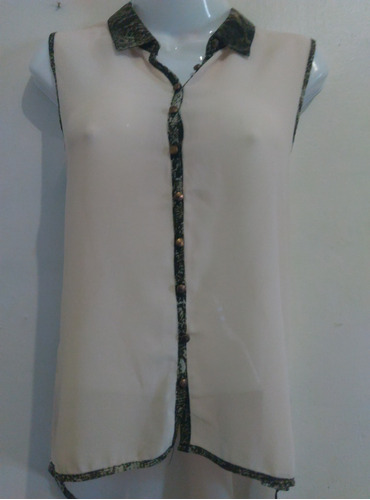 bella blusa de dama fashion moda de tela chifon talla m