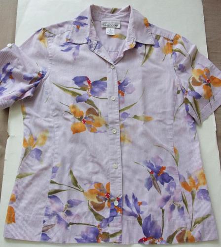 bella blusa manga corta talla m