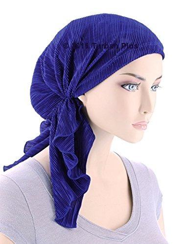 bella bufanda plisse quimioterapia sombrero turbante cabeza