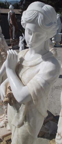 bella escultura para  jardín ( mármol 160 cms)