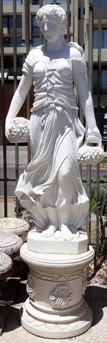 bella  gran  escultura  màrmol  180 cms  + base 60