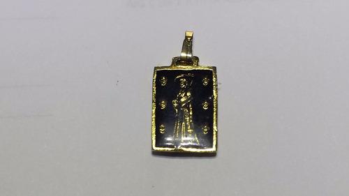 bella medalla de la santa muerte reforzada con el pentagrama