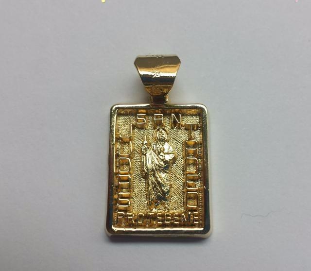 Bella Medalla De San Judas Tadeo En Fina Chapa De Oro 39900 En