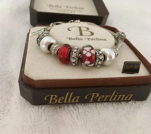 bella perlina pulsera original. nueva envio gratis.