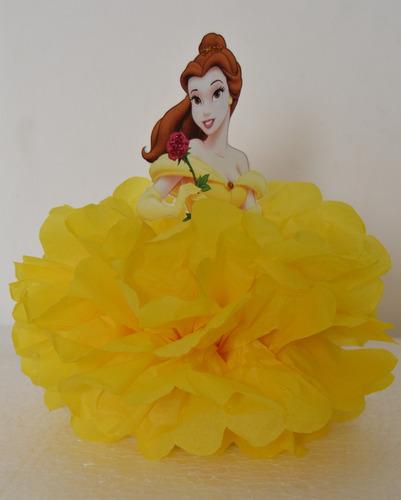 bella, princesa bella, adorno de torta, centro de mesa