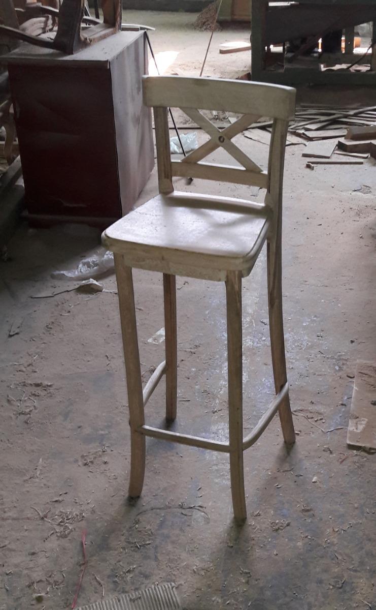 Bella silla alta para barra en madera bs en for Sillas altas para barra