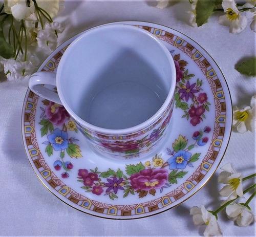 bella taza para café  de porcelana china antigua con flores