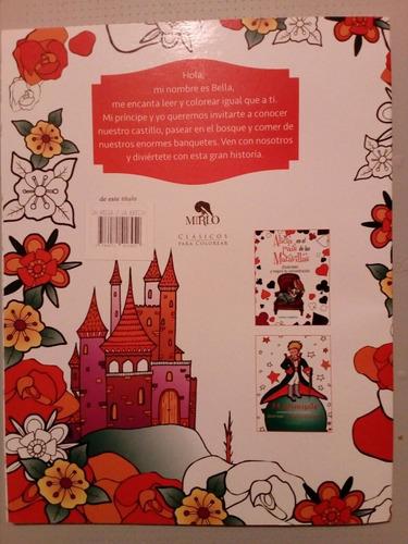 bella y bestia. libro para colorear adultos. coloring book