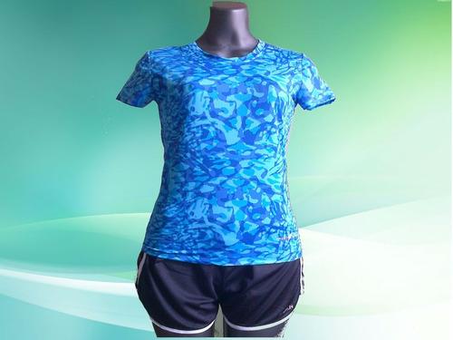 bella y frescas franelas deportivas para damas en tela lycra