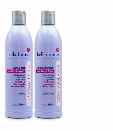 belladonna kit desamarelador c/2 produtos a escolher