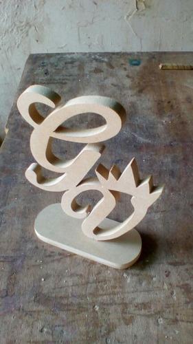bellas letras ideal para centros de mesa en mdf