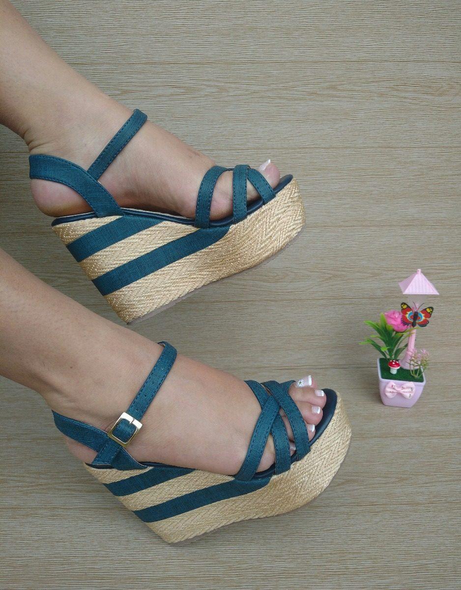 210b526344e19 bellas sandalias altas azules de moda para chica mujer dama. Cargando zoom.