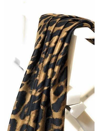 bellaselah bufanda para mujer diseño de leopardo suave sin