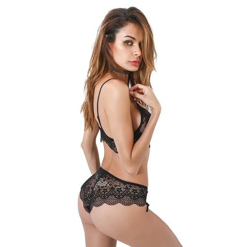 belleziva mujeres criss cross venda de encaje de la ropa int