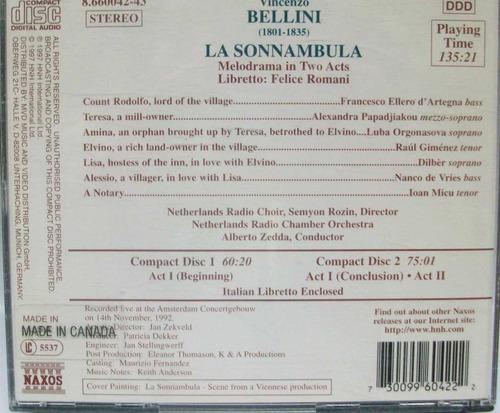 bellini-la sonnambula organosova/gimenez hm4-envío gratis