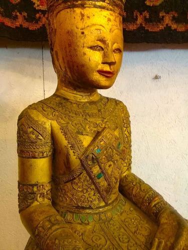 bellisima  escultura  * buda  meditando* s.  xviii