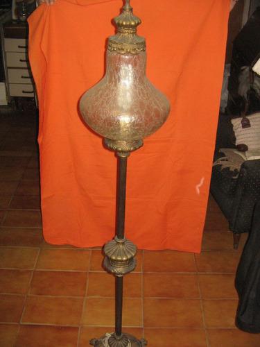 bellisima lampara de pie bronce macizo