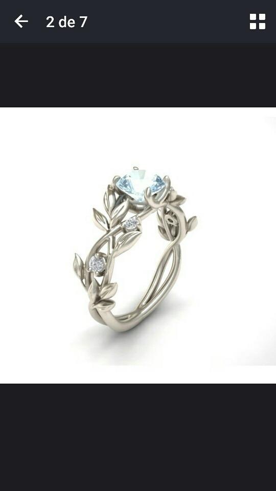 980ba14f81c9 bellísimo anillo plata con zafiro blanco o rosa. Cargando zoom.
