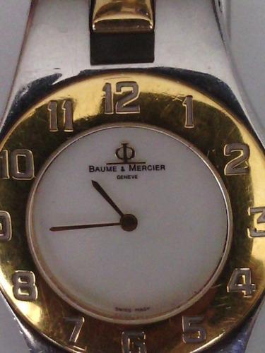 bellisimo reloj baume & mercier geneve chapado en oro 18 k