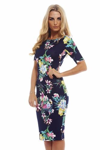 bellísimo vestido elegante estampado algodón seda elasticado