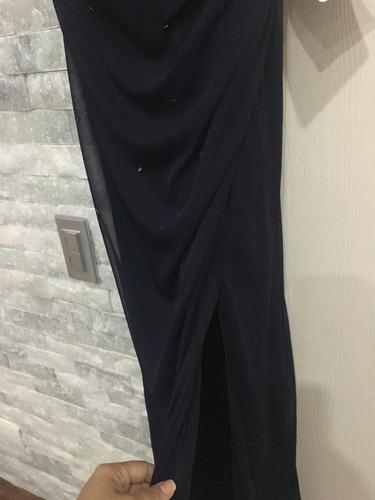 bellísimo vestido largo con detalles en piedra importado