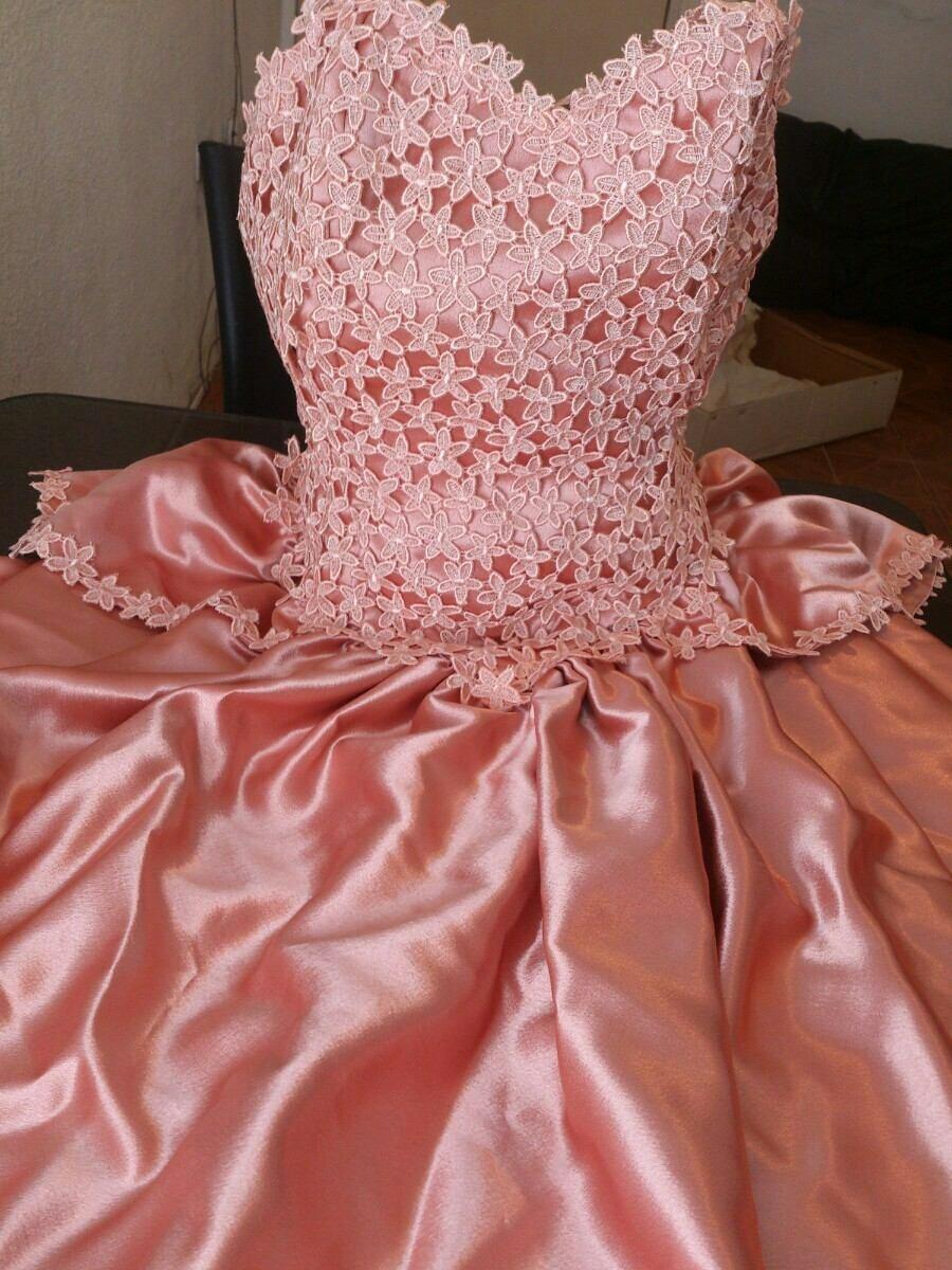 Bellisimo Y Original Vestido De Novia,salmom/durazno - $ 2.700,00 en ...