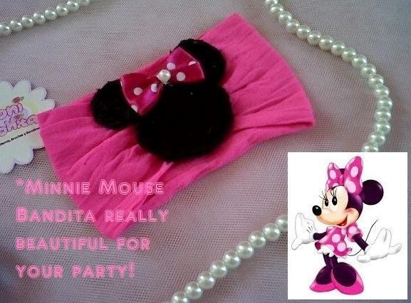 Bellisimos accesorios de minnie mouse banditas diademas for Hacer diademas nina