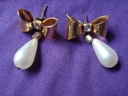 bellísimos aros franceses con perlas alice sale envio gratis