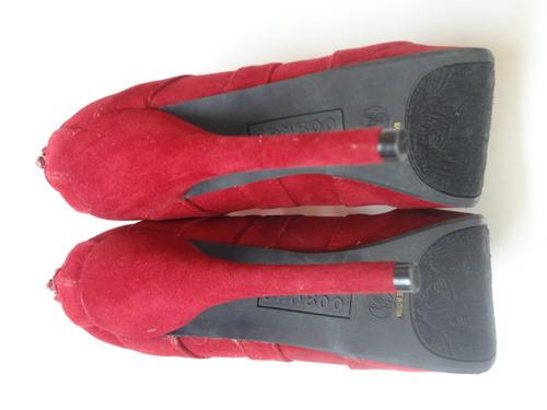 bellisimos tacones rojos marca: bambú talla 37