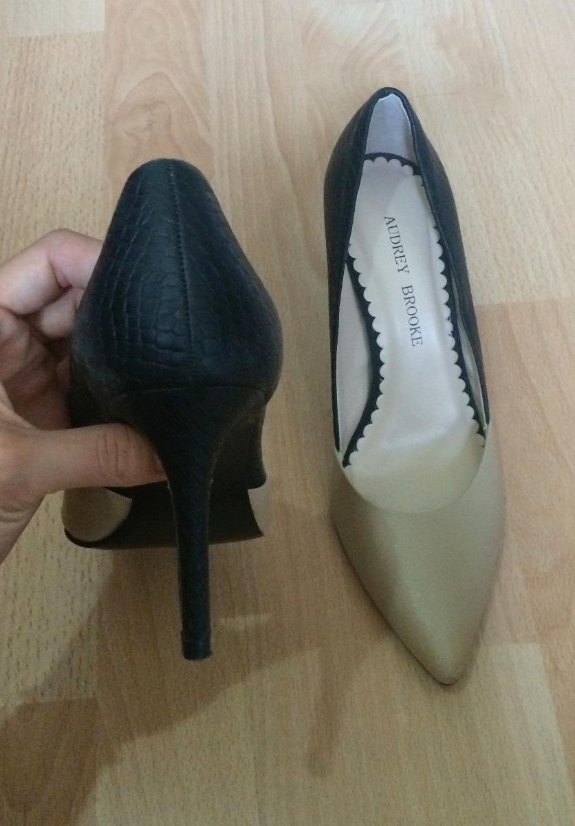 Bellisimos Beige Brooke Tacones Negro Bicolor Audrey Zapatos pwRHgqrp