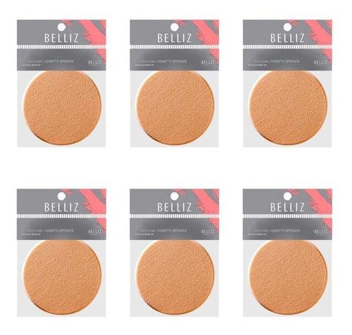 belliz 550 make up esponja facial (kit c/06)